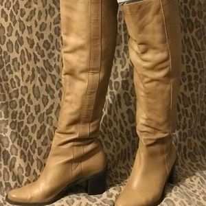 Tan Leather Heeled Matisse Boots